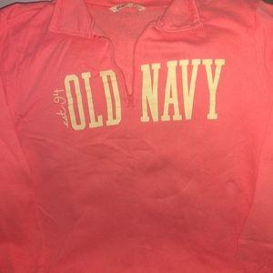 Women's old navy half zip sweat shirt